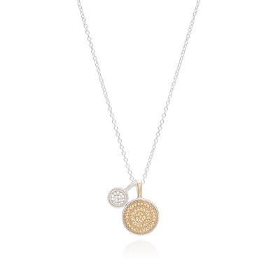 """Circle of Life Dual Divided Disc Charity Necklace, 16-18"""" (Reversible)"""
