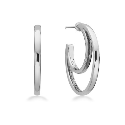 Sterling Silver Double Hoop Earring