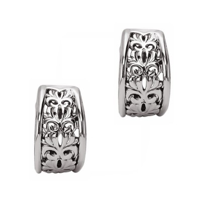 Sterling Silver & 14kw Earrings 12.5mm