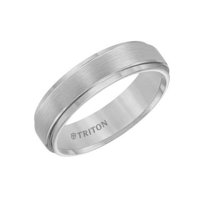 6Mm Comfort Fit  Grey Tungsten Wedding Band