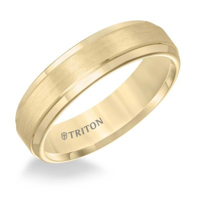 6Mm Yellow Tungsten Wedding Band