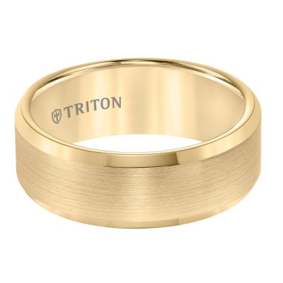 Triton 8mm Yellow Tungsten Band
