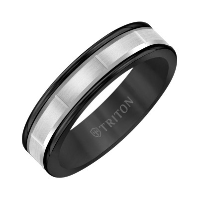Triton 6mm Black Tungsten & 14KW Band