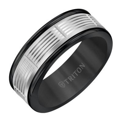 Triton 8mm Black Tungsten & 14KW Band