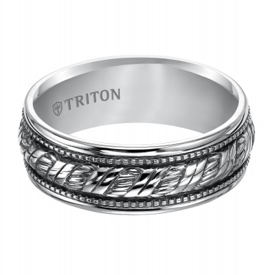 7Mm Sterling Silver Woven Band