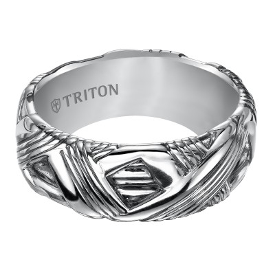 Triton 9mm Sterling Silver Woven Band