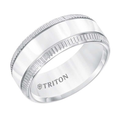 Triton 9mm White Tungsten Band
