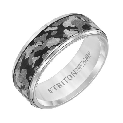 Triton 8mm Gray Tungsten Band