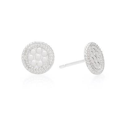 Tiny Circle Stud Earrings