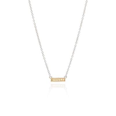 "Mini Bar Necklace, 16-18"" (Reversible)"