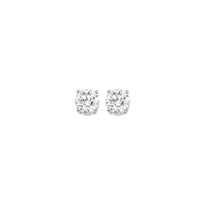 Ladies Round Diamond Stud Earrings