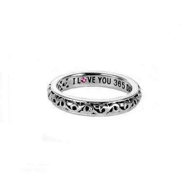 """Sterling Silver Ivy """"I Love You 365 Days a Year"""" Ring"""