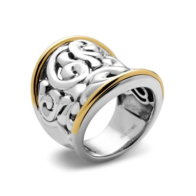 Sterling Silver Ivy Concave Saddle Ring