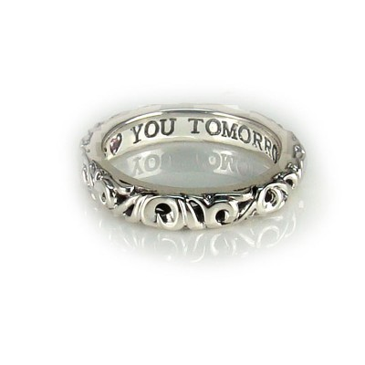 """Sterling Silver Ivy """"I Love You Tomorrow"""" Ring"""