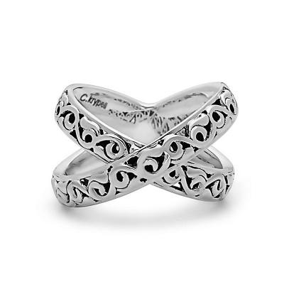 "Sterling Silver Ivy ""X"" Ring"