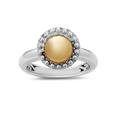 Sterling Silver Firefly Round Station Ring