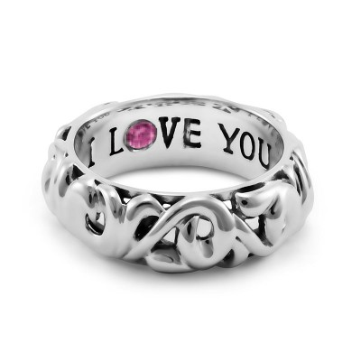 """Sterling Silver Ivy """"I Love You"""" Ring"""
