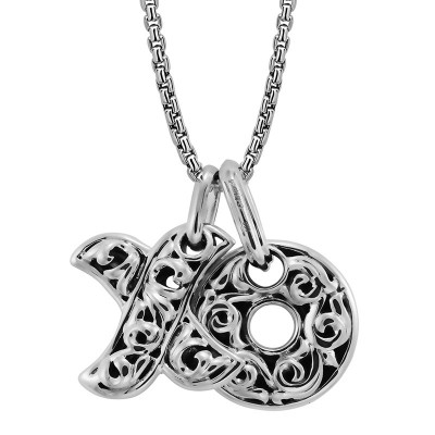 Sterling Silver Hugs & Kisses Necklace