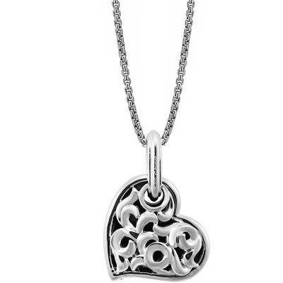 Sterling Silver Ivy Large Heart Pendant