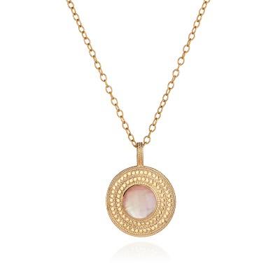 """Guava Pendant Necklace (Reversible), 28"""""""
