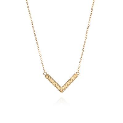 """Medium Arrow Necklace, 16-18"""" (Reversible)"""