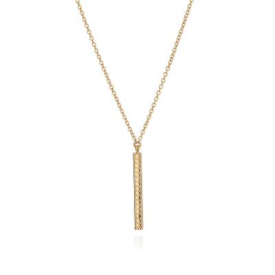 "Long Vertical Bar Necklace, 26"" (Reversible)"
