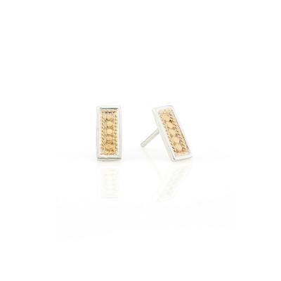 Beaded Bar Stud Earrings