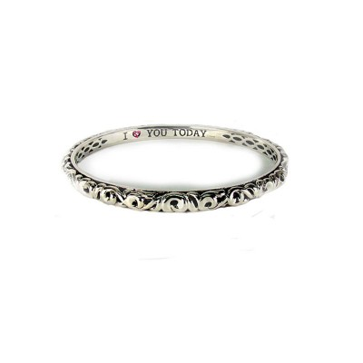 "Sterling Silver Ivy ""I Love You Today"" Bangle"