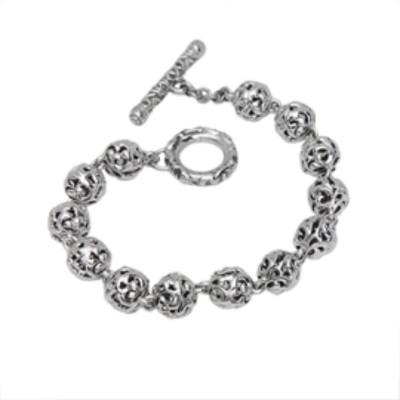 Sterling Silver Ivy Bead Bracelet