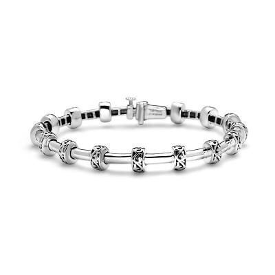 Sterling Silver Ivy Petite Rondel Tube Bracelet