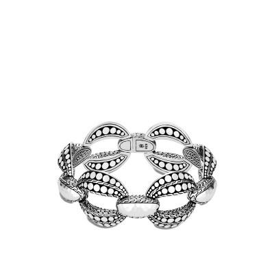 Dot Hammered Link Bracelet