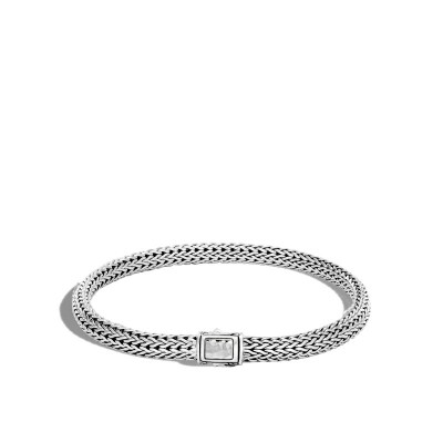 Classic Chain Hammered Extra Small Bracelet