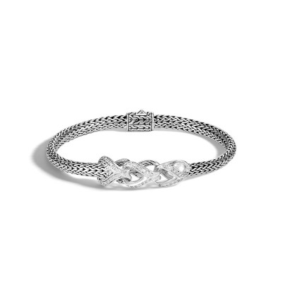 Asli Link Extra Small Station Bracelet with Diamond