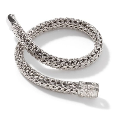 Classic Chain Small Bracelet with Diamond