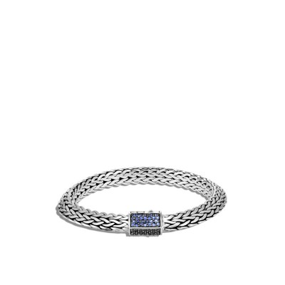 Tiga Chain Bracelet with Black & Blue Sapphire and Black Spinel