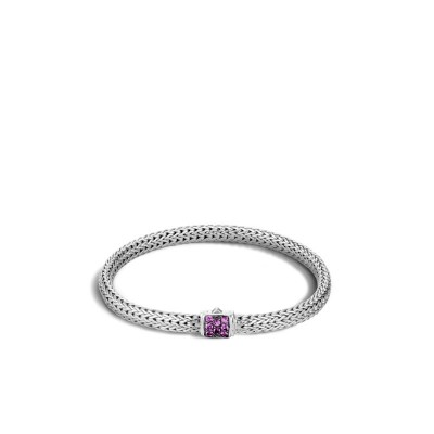 Classic Chain Extra Small Bracelet with Amethyst