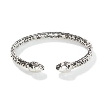 Classic Chain Hammered Flex Cuff Bracelet