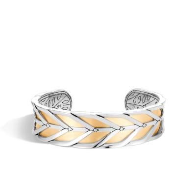 Modern Chain Two-Tone Medium Cuff Bracelet