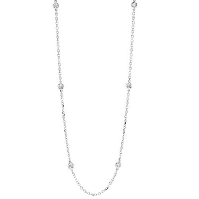 Round Bezel Diamond Necklace