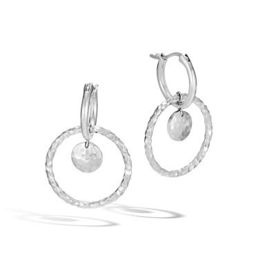 Dot Hammered Drop Earrings