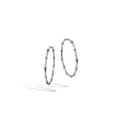 Bamboo Large Hoop Earrings