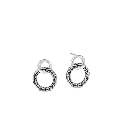 Classic Chain Hammered Interlink Earrings