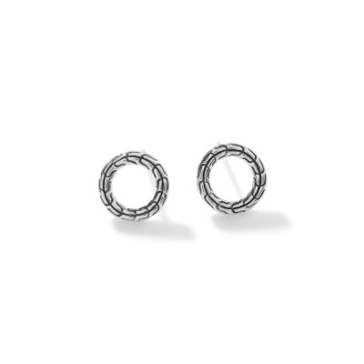 Classic Chain Circle Stud Earrings