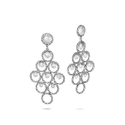 Dot Hammered Chandelier Earrings