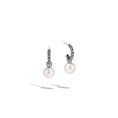 Classic Chain Tahitian Pearl Drop Earrings