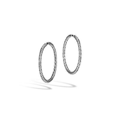 Classic Chain Medium Hoop Earrings