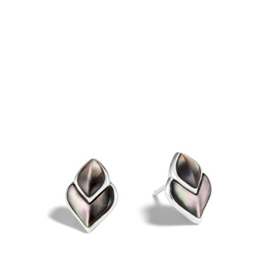 Legends Naga Grey Mother of Pearl Stud Earrings