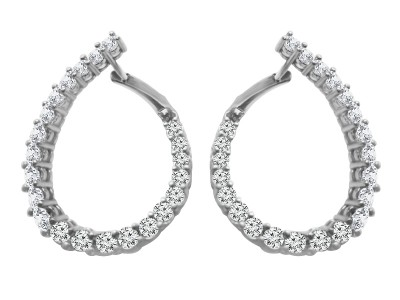 Pear Shape Hoops Push On/Off