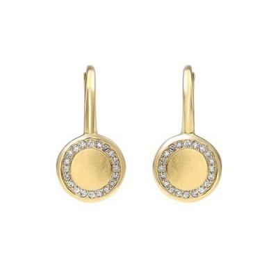 Diamond Eternity Halo Dangle Earrings in Gold (1/8ctw)