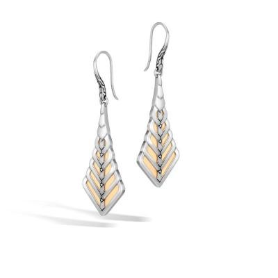 Modern Chain Two-Tone Drop Earrings